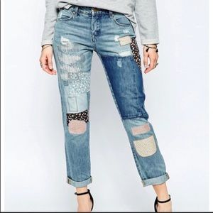 Blank NYC Patch Things Up Denim Mom Jeans Size 27